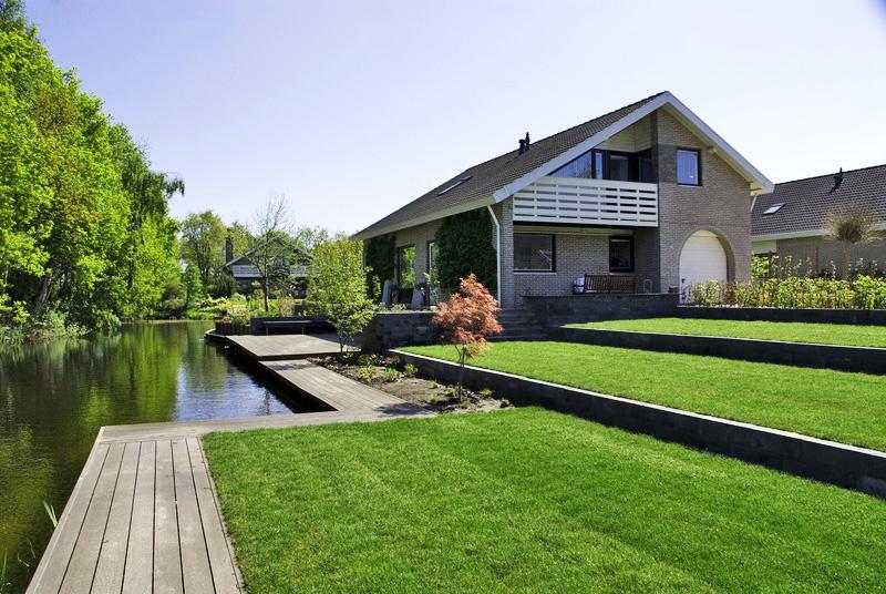 Moderne terrassentuin for Moderne terrassen
