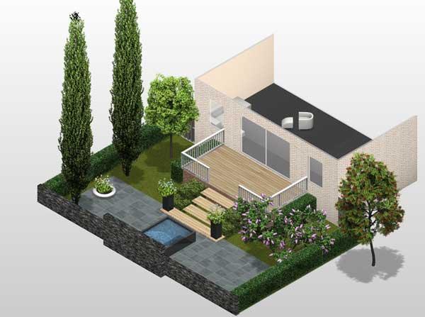 Vanaf nu gratis online tuinonwerp maken for Ontwerp plattegrond